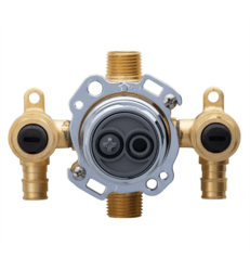 DANZE G00GS527S TREYSTA TUB AND SHOWER VALVE VERTICAL INPUTS WITH STOPS- COLD EXPANSION PEX