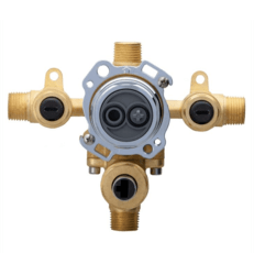 DANZE G00GS555S TREYSTA TUB AND SHOWER VALVE WITH DIVERTER- HORIZONTAL INPUTS WITH STOPS- IPS/SWEAT