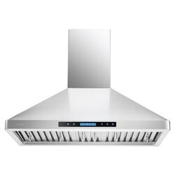 CAVALIERE AIR PRO AP238-PS31-36 36 INCH WALL MOUNT RANGE HOOD IN STAINLESS STEEL