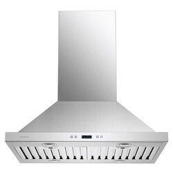 CAVALIERE SV218B2-I30 30 INCH ISLAND RANGE HOOD IN STAINLESS STEEL WITH TOUCH SENSITIVE CONTROLS