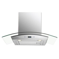 CAVALIER SV218D-30 30 INCH WALL MOUNTED RANGE HOOD IN STAINLESS STEEL AND GLASS WITH TOUCH SENSITIVE CONTROLS