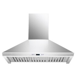 CAVALIER SV218F-36 36 INCH WALL MOUNTED RANGE HOOD IN STAINLESS STEEL WITH TOUCH SENSITIVE LED CONTROL PANEL