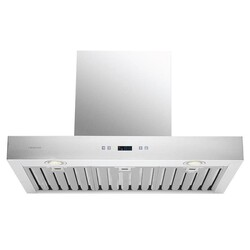 CAVALIERE SV218Z-30 DANTE 30 INCH WALL MOUNTED RANGE HOOD IN STAINLESS STEEL WITH TOUCH SENSITIVE LED CONTROL PANEL