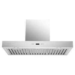 CAVALIERE SV218Z-36 DANTE 36 INCH WALL MOUNTED RANGE HOOD IN STAINLESS STEEL WITH TOUCH SENSITIVE LED CONTROL PANEL