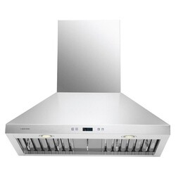 CAVALIERE AIR PRO AP238-PSF-30 30 INCH WALL MOUNT RANGE HOOOD IN STAINLESS STEEL WITH TOUCH SENSITIVE LED CONTROL PANEL