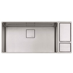 FRANKE CUX11031-W CHEF CENTER 41-5/8 INCH STAINLESS STEEL KITCHEN SINK