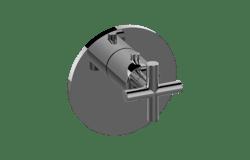GRAFF G-8037-C17E-T M.E.25/TERRA THERMOSTATIC VALVE TRIM WITH CROSS HANDLE