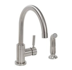 PREMIER 120098 ESSEN LEAD-FREE SINGLE-HANDLE HIGH-ARC KITCHEN FAUCET, PVD BRUSHED NICKEL