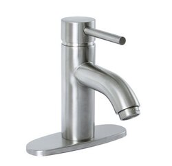 PREMIER 120122 ESSEN LEAD-FREE SINGLE-HANDLE LAVATORY FAUCET, PVD BRUSHED NICKEL