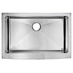 WATER-CREATION SS-AS-3322B 33 X 22 INCH 15MM CORNER RADIUS SINGLE BOWL STAINLESS STEEL HAND MADE APRON FRONT KITCHEN SINK