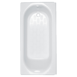 AMERICAN STANDARD 2395.202 PRINCETON 60 X 34 INCH METAL INTEGRAL APRON BATHTUB, RIGHT HAND OUTLET, FOR ALCOVE INSTALLATION
