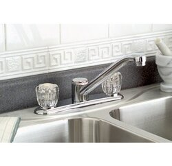 PREMIER 120022LF BAYVIEW LEAD-FREE TWO-HANDLE KITCHEN FAUCET WITH SPRAY, CHROME