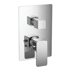 ISENBERG 196.4422 SERIE 196 3/4  INCH THERMOSTATIC VALVE WITH 2-WAY DIVERTER AND INTEGRATED VOLUME CONTROL AND TRIM