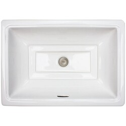 LINKASINK P008 W TIFFANY 30 INCH PORCELAIN WHITE GLAZED UNDERMOUNT BATHROOM SINK