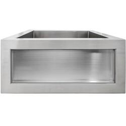 LINKASINK C073-3.5 SS INSET APRON COLLECTION 18 INCH APRON FRONT STAINLESS STEEL BAR SINK