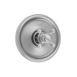 JACLO T578-TRIM ROUND STEP PLATE WITH BALL CROSS TRIM FOR THERMOSTATIC VALVES (J-TH34 AND J-TH12)