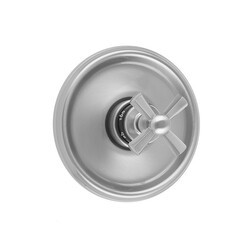 JACLO T586-TRIM ROUND STEP PLATE WITH HEX CROSS TRIM FOR THERMOSTATIC VALVES (J-TH34 AND J-TH12)