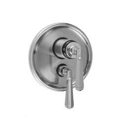 JACLO T6585-TRIM ROUND STEP PLATE WITH HEX LEVER THERMOSTATIC VALVE AND HEX LEVER VOLUME CONTROL TRIM FOR 1/2 INCH THERMOSTATIC VALVE WITH INTEGRAL VOLUME CONTROL (J-THVC12)