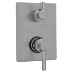 JACLO T7533-TRIM RECTANGLE PLATE WITH CONTEMPO LOW LEVER THERMOSTATIC VALVE WITH CONTEMPO SHORT PEG BUILT-IN 2-WAY OR 3-WAY DIVERTER/VOLUME CONTROLS (J-TH34-686 / J-TH34-687 / J-TH34-688 / J-TH34-689)