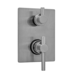 JACLO T7536-TRIM RECTANGLE PLATE WITH CONTEMPO PEG LEVER THERMOSTATIC VALVE WITH CONTEMPO SHORT PEG BUILT-IN 2-WAY OR 3-WAY DIVERTER/VOLUME CONTROLS (J-TH34-686 / J-TH34-687 / J-TH34-688 / J-TH34-689)