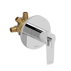 RIOBEL DJ95C 3-WAY TYPE T/P (THERMOSTATIC/PRESSURE BALANCE) COAXIAL COMPLETE VALVE IN CHROME