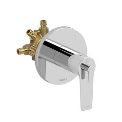 RIOBEL DJ95C-EX 3-WAY TYPE T/P (THERMOSTATIC/PRESSURE BALANCE) COAXIAL COMPLETE VALVE EXPANSION PEX IN CHROME