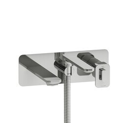 RIOBEL EQ21C EQUINOX WALL-MOUNT TYPE T/P (THERMO/PRESSURE BALANCE) COAXIAL TUB FILLER WITH HAND SHOWER IN CHROME