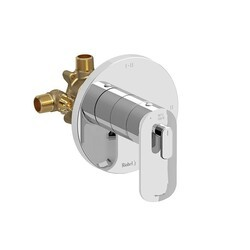 RIOBEL EV93C EVER 2-WAY TYPE T/P (THERMOSTATIC/PRESSURE BALANCE) COAXIAL COMPLETE VALVE IN CHROME