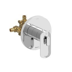 RIOBEL EV93C-EX EVER 2-WAY TYPE T/P (THERMOSTATIC/PRESSURE BALANCE) COAXIAL COMPLETE VALVE EXPANSION PEX IN CHROME