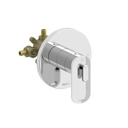 RIOBEL EV94C-SPEX EVER 2-WAY NO SHARE TYPE T/P (THERMOSTATIC/PRESSURE BALANCE) COAXIAL COMPLETE VALVE PEX IN CHROME