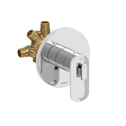 RIOBEL EV95C EVER 3-WAY TYPE T/P (THERMOSTATIC/PRESSURE BALANCE) COAXIAL COMPLETE VALVE IN CHROME