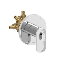 RIOBEL EV95C-EX EVER 3-WAY TYPE T/P (THERMOSTATIC/PRESSURE BALANCE) COAXIAL COMPLETE VALVE EXPANSION PEX IN CHROME