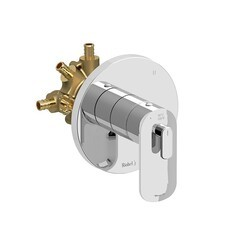 RIOBEL EV95C-SPEX EVER 3-WAY TYPE T/P (THERMOSTATIC/PRESSURE BALANCE) COAXIAL COMPLETE VALVE PEX IN CHROME