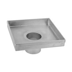 JACLO 84266-BSS 6 X 6 INCH SQUARE CHANNEL DRAIN BODY IN BRUSHED STAINLESS