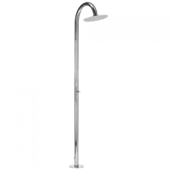 JACLO 1811-PSS AQUA OUTDOOR SHOWER COLUMN- FLOOR INSTALL IN POLISHED STAINLESS