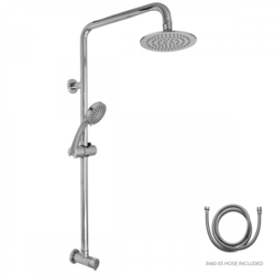 JACLO EXPTOP-90SD-KIT-PCH EXPOSED PIPE SHOWER RAIL RETRO FIT WITH HANDSHOWER SLIDER AND DIVERTER IN POLISHED CHROME
