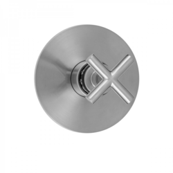 JACLO T562-TRIM ROUND PLATE WITH CONTEMPO SLIM CROSS HANDLE TRIM FOR THERMOSTATIC VALVES (J-TH34 AND J-TH12)