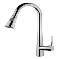 LEGION FURNITURE ZK88402AB-PC UPC KITCHEN FAUCET WITH DECK PLATE IN POLISHED CHROME