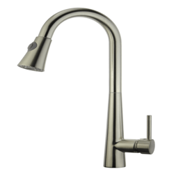 LEGION FURNITURE ZK88402AB-BN UPC KITCHEN FAUCET WITH DECK PLATE IN BRUSHED NICKEL