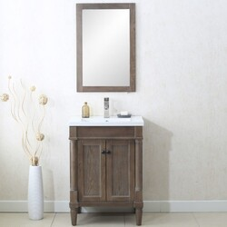 LEGION FURNITURE WLF7021-24 24 INCH WEATHERED GRAY VANITY, NO FAUCET