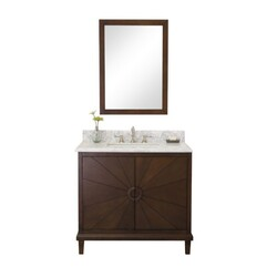 LEGION FURNITURE WLF7040-36-CW 36 INCH ANTIQUE COFFEE VANITY WITH WLF7040-37 TOP, NO FAUCET
