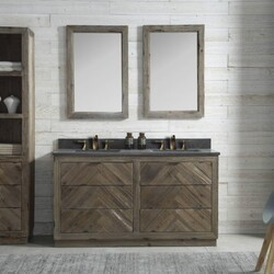LEGION FURNITURE WH8560 60 INCH WOOD VANITY IN BROWN WITH MARBLE WH5160 TOP, NO FAUCET