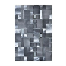 LEGION FURNITURE MS-ALUMINUM-18 MOSAIC WITH MIX ALUMINUM IN GRAY AND SILVER