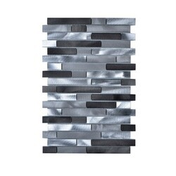 LEGION FURNITURE MS-ALUMINUM-21 MOSAIC WITH MIX ALUMINUM IN GRAY AND SILVER