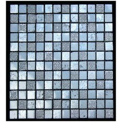 LEGION FURNITURE MS-MIXED08 MIX TILE IN LIGHT STEEL BLUE WITH SILVER