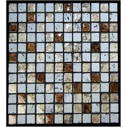 LEGION FURNITURE MS-MIXED09 MIX TILE IN SILVER GOLD AND BROWN