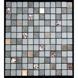 LEGION FURNITURE MS-MIXED11 MIX TILE IN COPPER, WHITE AND BROWN
