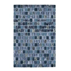 LEGION FURNITURE MS-MIXED18 MOSAIC MIX WITH STONE-SF IN GRAY AND BLUE