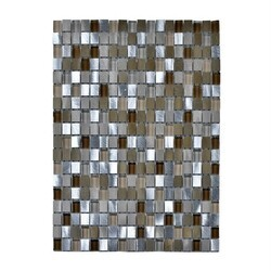 LEGION FURNITURE MS-MIXED26 MOSAIC MIX WITH STONE-SF IN BROWN AND SILVER