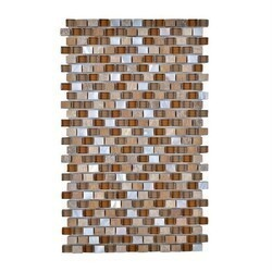 LEGION FURNITURE MS-MIXED31 MOSAIC MIX WITH STONE-SF IN BROWN